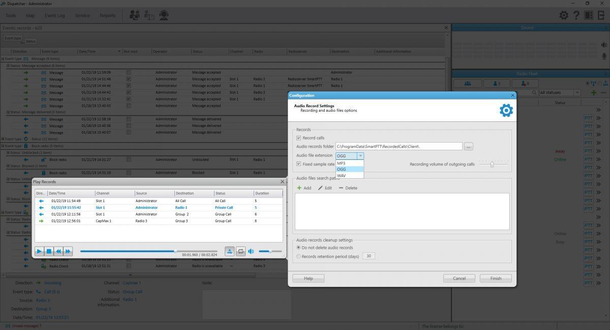 呼叫记录存储在OGG / WAV / MP3文件中